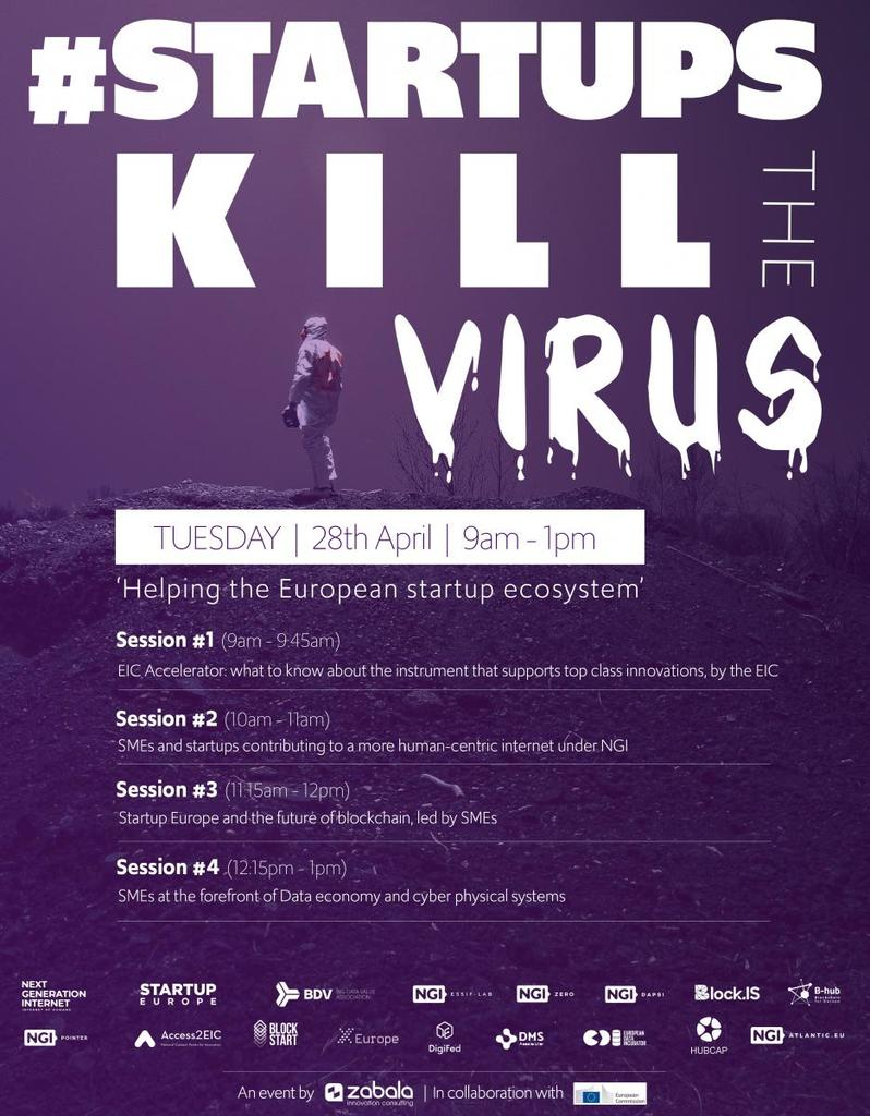 #StartupsKillTheVirus: Online event to support tech innovators in times of COV19 crisis