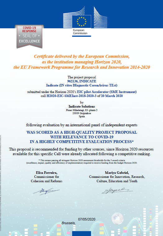 European Commission Covid-19 Response Seal Of Excellence