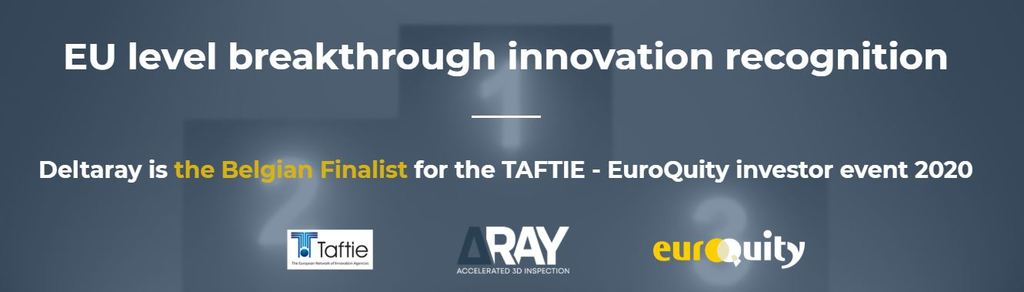 Belgian finalist for the TAFTIE e-pitch 16th of June : Deltaray