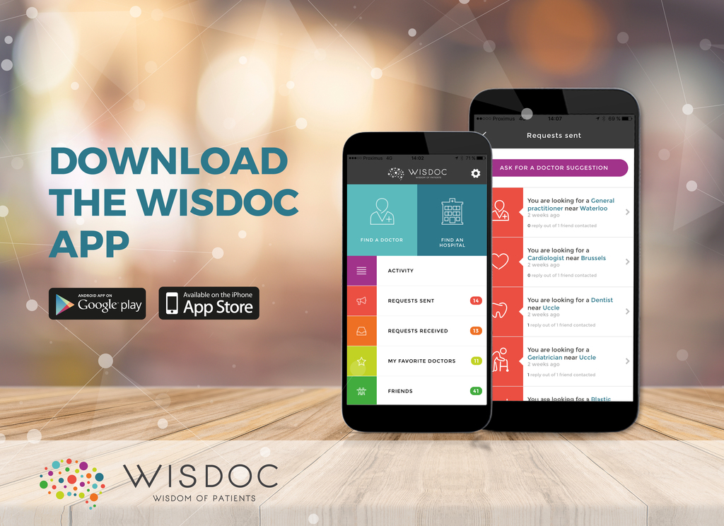 WISDOC App is available on App Store and google Play since October 2016!