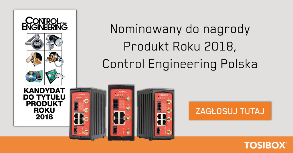 TOSIBOX® Lock 500 up for Control Engineering Poland's Product of the Year 2018 Award