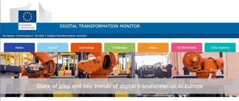The Digital Transformation Monitor portal provides a monitoring mechanism to examine key trends in digital transformation