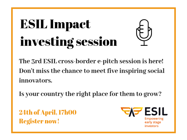Register to the third ESIL e-pitch session, on April 24th at 5:00 PM CEST