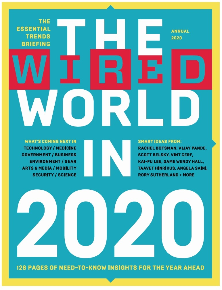 Wired World 2020 written by our CEO